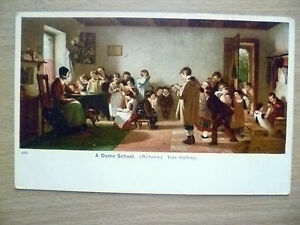 Postcard-A-DAME-SCHOOL-Webster-TATE-GALLERY-Exc