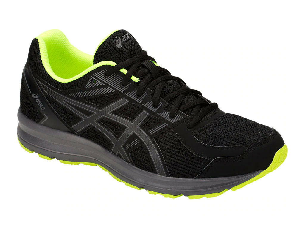 [asics] JOLT Black Neon Lime Ugly-shoes Men's Running shoes T7K3N.001