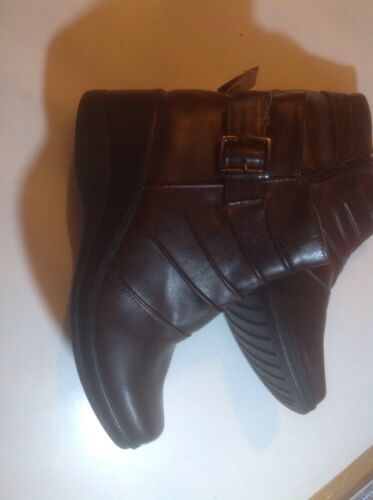 Lovely Size Ladies 3 Heel New Brown Boots Wedge Shop Ankle Clearance 4Fqr4xU