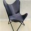 leather butterfly chair vintage black genuine leather handmade home & decro