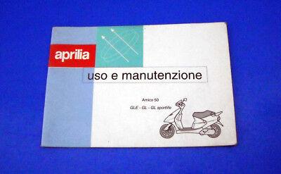 Aprilia Amico 50 Libretto Uso E Manutenzione 1994 Originale