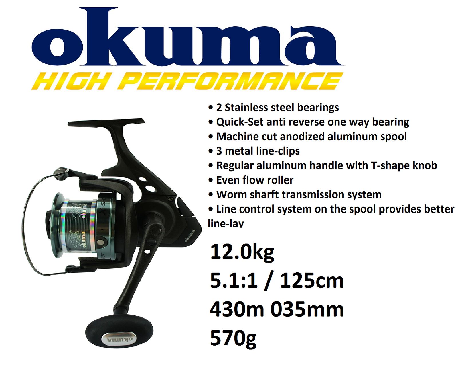 Okuma X-Spot Spod&marker Pesca de Carpa Carrete