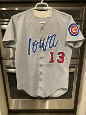 Game Used Worn Iowa Cubs Minor League Jersey Chicago Wilson 42 Grey