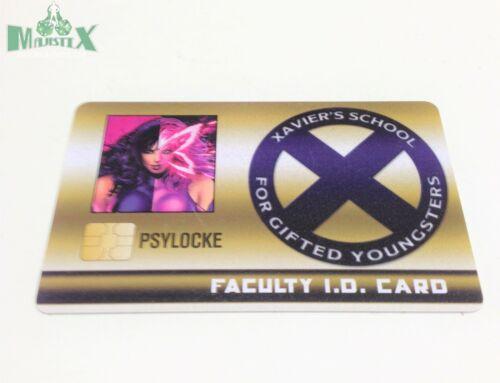 Heroclix 2018 Convention Exclusive Psylocke #MVID-015 LE ID Card!