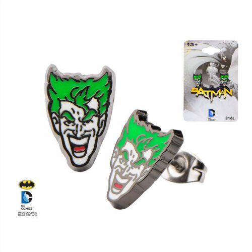 Official DC Batman The Joker Enamel Stud Earrings