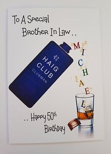 Image Is Loading Personalised 50th Birthday Card Whiskey 18th 21st 40th