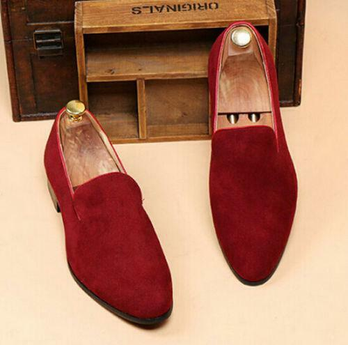 New stylish Men/'s pointy suede loafer Slip On  Shoes Casual Formal Dress oxford