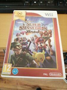 NINTENDO WII Juego Super Smash Bros Brawl completa condición encantadora Probado