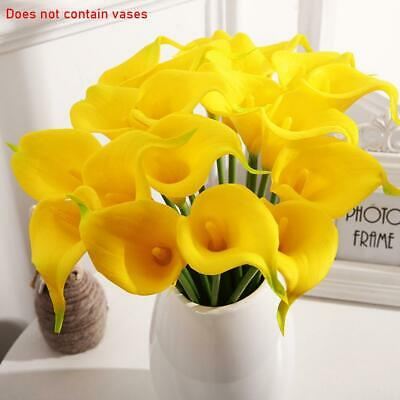 8x Real Touch Calla Lilies Cala Lilly Lily Artificial Flowers Fake Silk