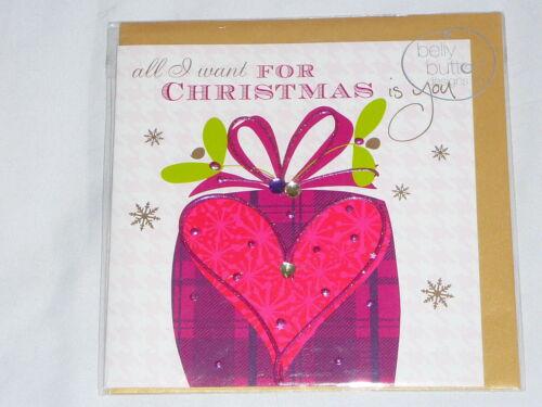 Carte de Noël Amour Belly Button Designs Copain Copine Partenaire Amour