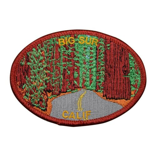 Iron on CA Redwoods Big Sur California Patch Pacific Ocean 3.5/""