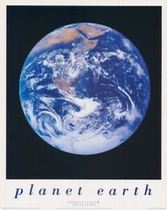 SMALL POSTER PHOTO:PLANET EARTH AS SEEN FROM APOLLO -FREE SHIP #MPE1042  RC2 K R