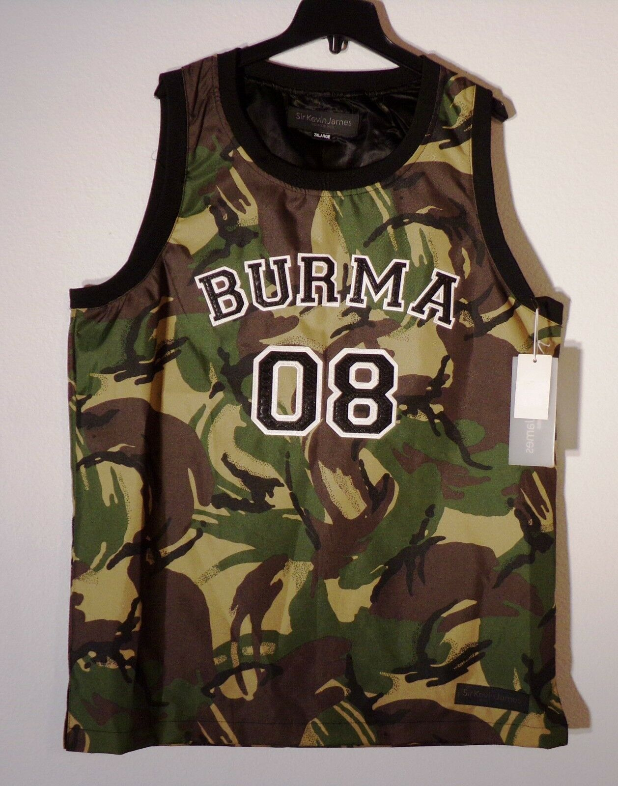 NWT Herren SIR KEVIN JAMES 2XL CAMO BURMA 08 RAMBO VEST  100%POLY 137  1277