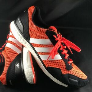 4cf1d05bc26 Details about Adidas Adizero Adios Boost Mens 12.5 US 47 1/3 EUR Coral Red,  Black White