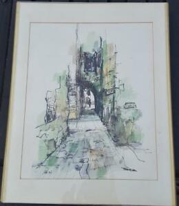 Beautiful-Original-Watercolor-Painting-Framed-and-Signed-VGC-BEAUTIFUL