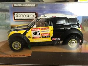 Scaleauto Sc-6093 Mini Countryman All4 Racing n ° 305 2º Dakar 2012 1/32 Nouveau