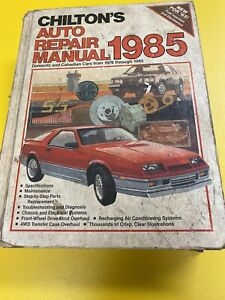 Chilton-039-s-Auto-Repair-Manual-1985-for-Domestic-amp-Canadian-Cars-1978-to-1985