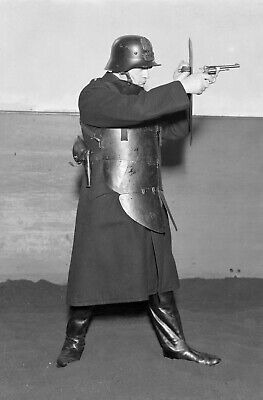 Antique Soldier Military War Photo police bulletproof vest Photo Glossy 4x6 Z