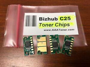 Details about 4 x Toner Reset Chip Refill for Konica Minolta Bizhub C25  (TNP27) - ONLY !!!!