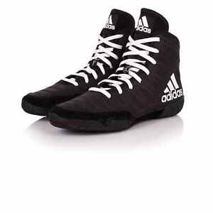 separation shoes fd8e8 8983d Image is loading Adidas-Adizero-Varner-Wrestling-Shoes-Black-amp-White-