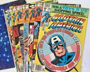 Captain-America-242-243-244-245-246-247-248-250-Marvel-Comic-Book-8-Comic-Lot