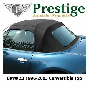 Bmw Z3 Convertible Top Soft Top Tops Roof Black Mohair Canvas 1996 2003 Ebay