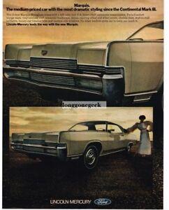 1969 Mercury Marquis Brougham Automobile Car Vintage Ad