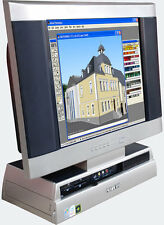 GAMER-PC DVD-RECORDER LCD TV MONI COMPUTER ALL-IN-ONE S9200 4 GB RAM SMALL QUIET