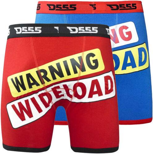 Lot de 2 boxers fantaisie large charge Boxer Shorts Pantalon Grande Taille 2XL 3XL 4XL 5XL