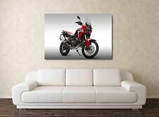 2017 Honda Africa Twin CRF1000L - 30x20 Inch Canvas Art Framed Picture Print