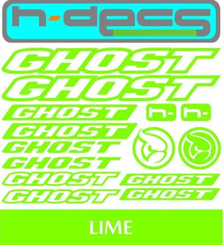 autocollants, cyclisme, vtt, bmx, Route, Vélo Ghost Bikes T1 Die-Cut Decal Sheet.