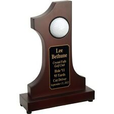 Customized Rosewood Hole in One Commemorative Trophy - Outstanding