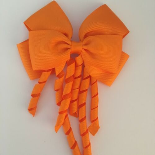Girls Bow Hair Clips Large Bow Big Korker School Dance Party Accessories Corker