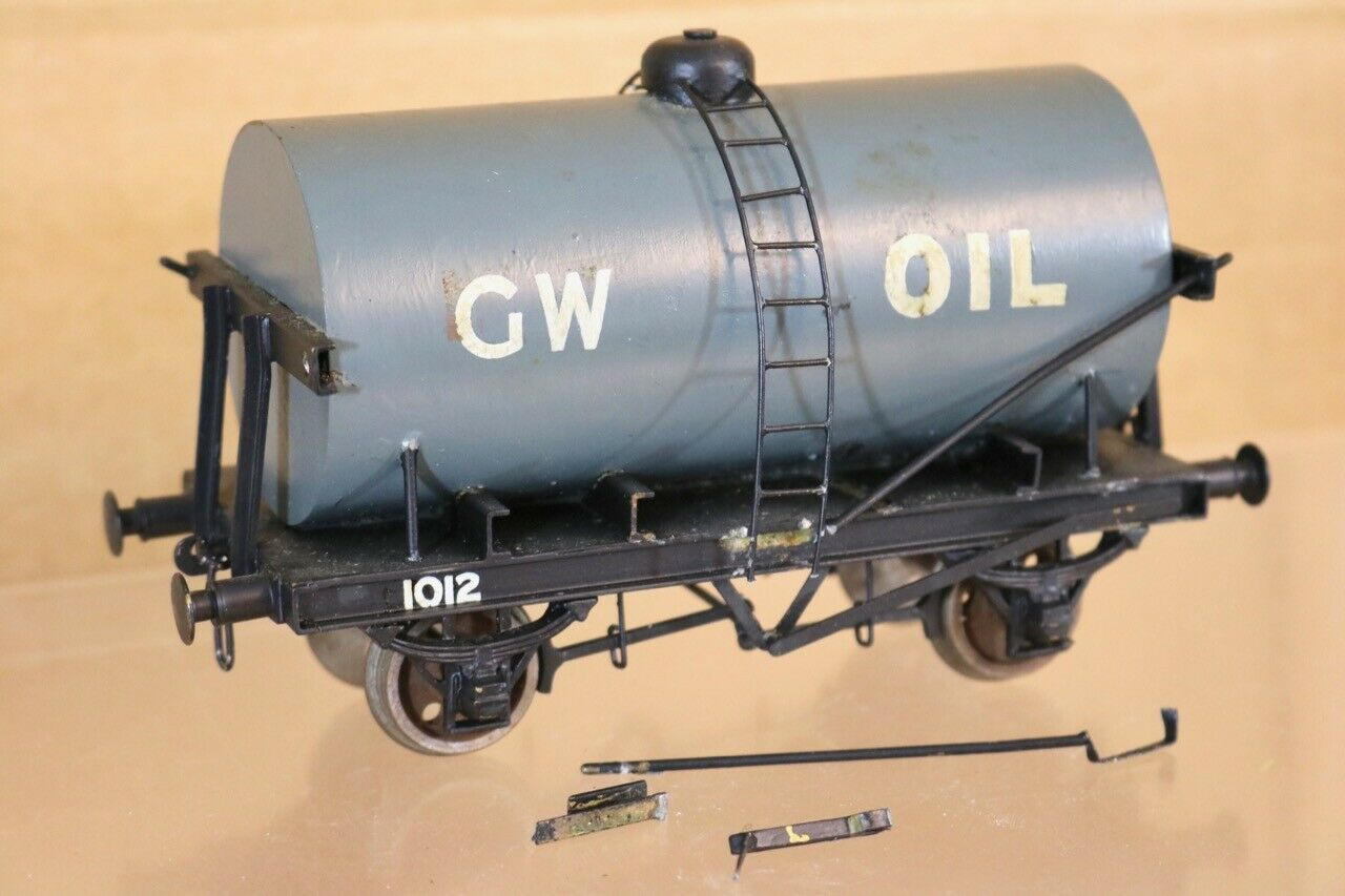 VINTAGE KIT BUILT O SCALE GW GWR OIL TANK WAGON nr