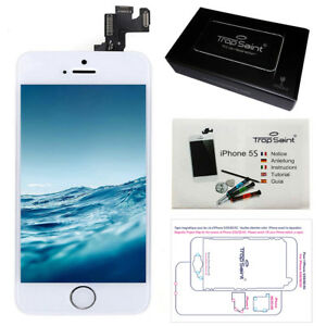 Ecran-LCD-Vitre-Tactile-Retina-Apple-iPhone-5S-Blanc-Camera-Bouton-Home