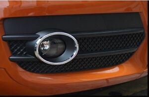 AUDI-Q3-2012-2013-2014-Chrome-Front-Bumper-Fog-Light-LAMP-Ring-cover-trim-set