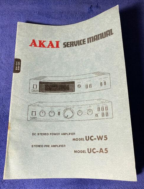 Akai Uc A5 Stereo Pre Amplifier Schematic Diagram