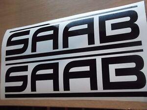 SAAB panel skirt car vinyl x 2 sticker decal 7 YEAR VINYL