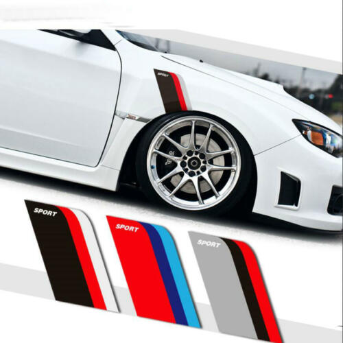 Graphics Vinyl SPORT Wheel Eyebrow Sticker Fit BMW Benz Front Fender Decal 2 PCS