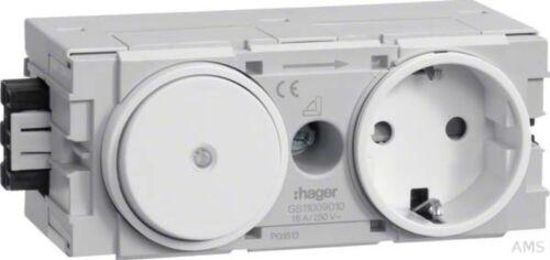 Tehalit Schalter-Steckdose Ecoline GS11009010 rws