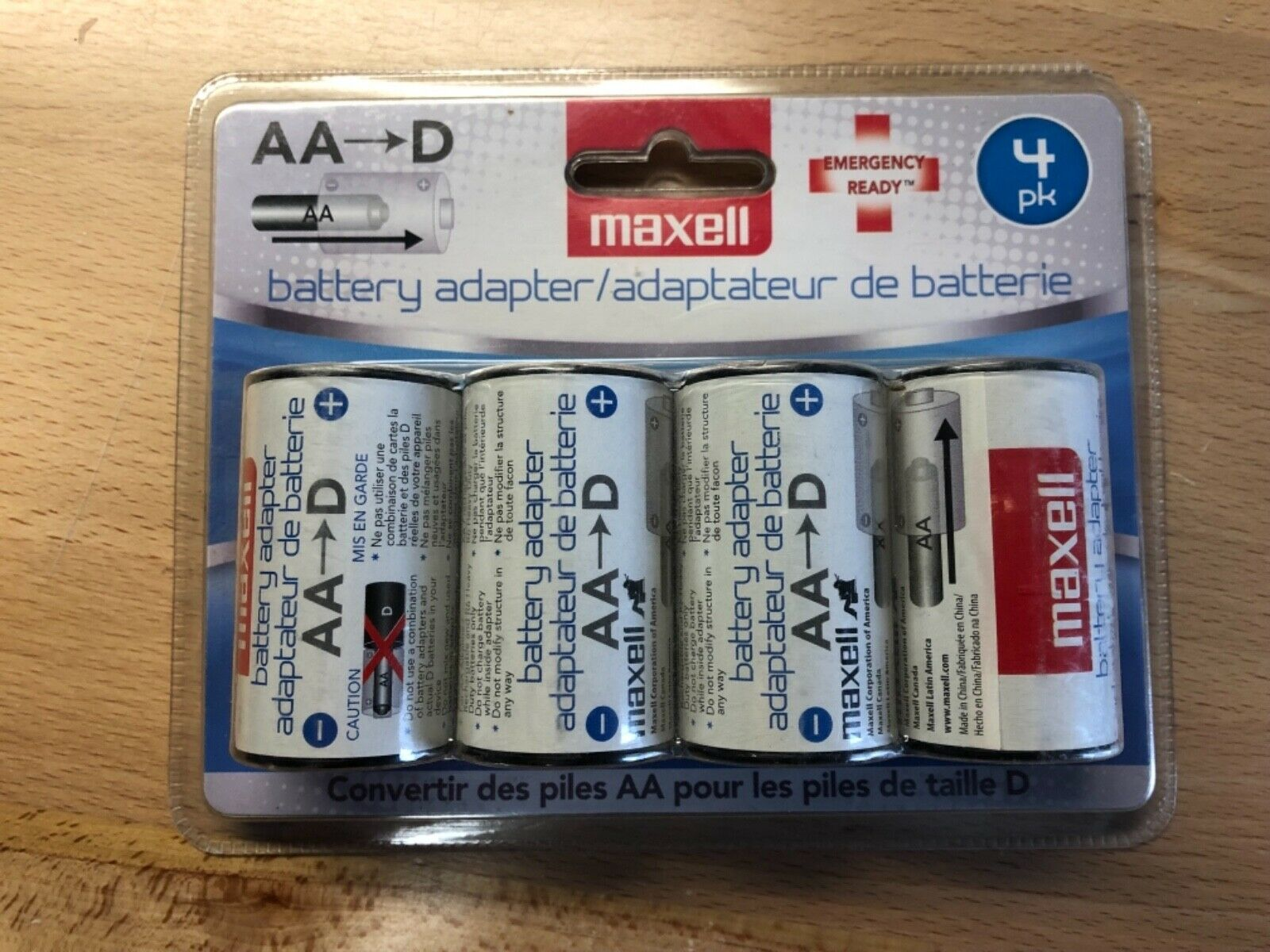 AA to D Maxell Battery Adapter