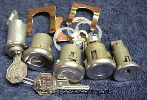 New Door Trunk Glove Ignition Locks With GM Keys Chevrolet Chevy Impala 1965