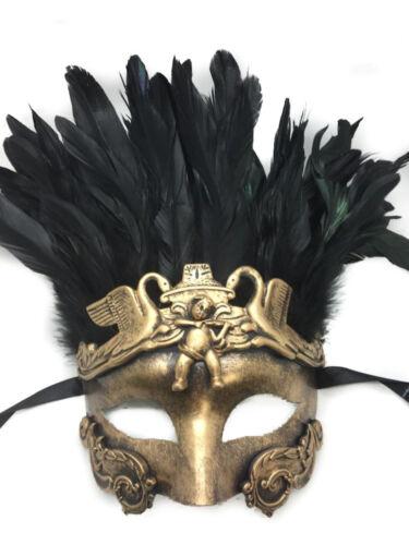 Or Unisexe Hommes Masque Vénitien Romain Ancien Dieu Grec de Egypte Bal Masqué