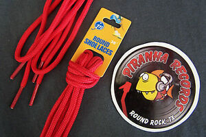 Red-Thin-Round-36-034-x-1-8-034-3-8-034-JN-Shoelaces-Shoe-Strings-Piranha-Records