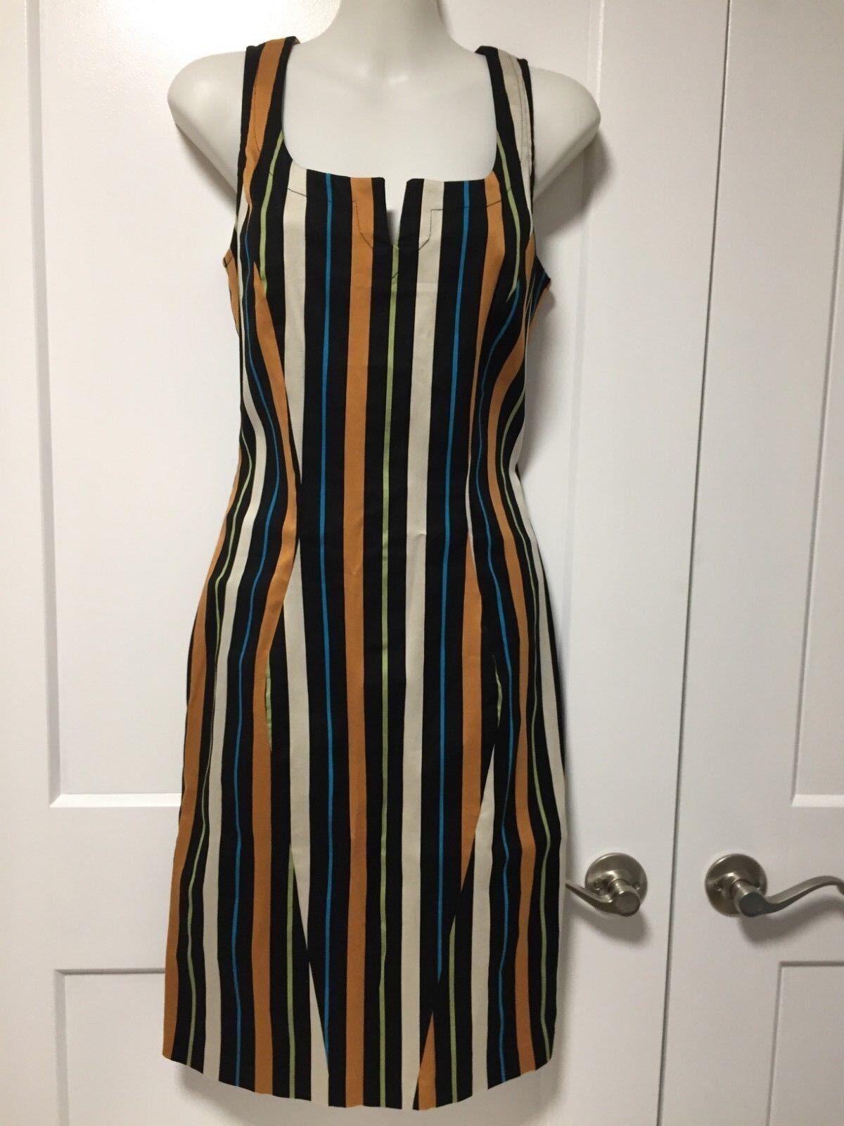NWT HANITA cotton blend stripes dress. dress. dress. SZ M, fits S 22bd95