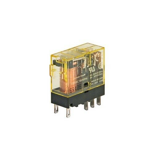 RJ2S-CL-A120 RJ relay DPDT Blade with LED 120VAC