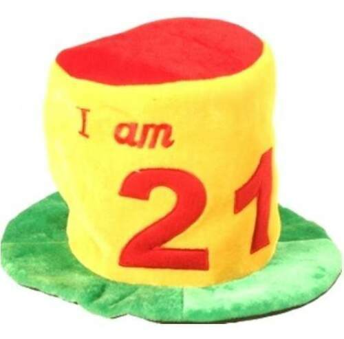 20th and 21st birthday fun wearable items including hats.tiaras and necklaces