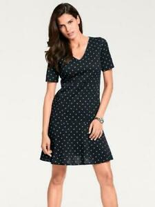 Ashley-Brooke-Spotted-Dress-Black-Turquoise-Size-UK-18-DH092-RR-04