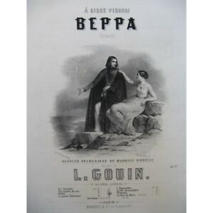 GOUIN-Louis-Beppa-Chant-Piano-ca1840-partitura-sheet-music-score