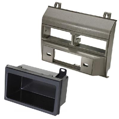 Stereo Radio Grey Single Din Dash Kit Pocket Bezel for Chevy GMC Trucks 1988-94